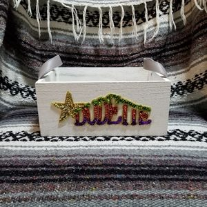 """NWOT """"Dudette"""" Hand Crafted Wood Crate"""